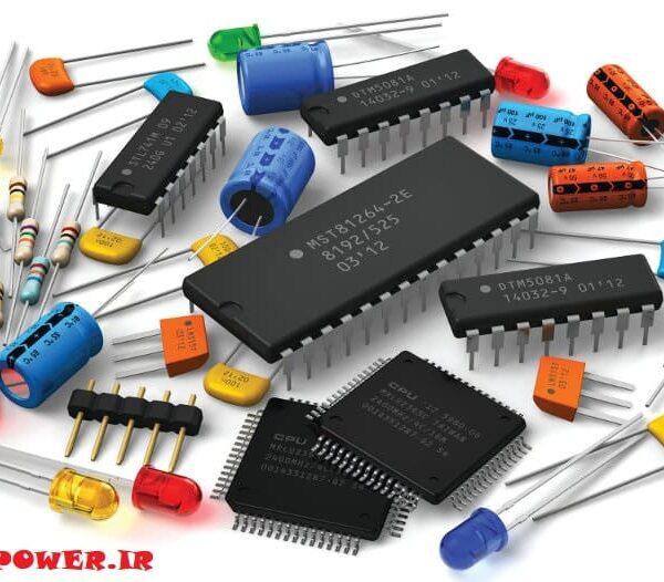 انواع مختلف قطعات الکترونیکی مانند خازن ، دیود ،سلف ، مقاومت و ...